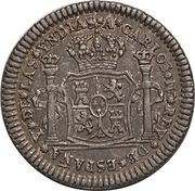 ½ Real - Carlos IV (Proclamation coinage) – avers