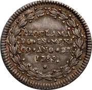 ½ Real - Carlos IV (Proclamation coinage) – revers