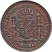 1 Real - Carlos IV (Proclamation coinage) – avers