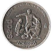 200 pesos Coupe du monde de football -  revers