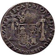 ½ Real - Fernando VII (Zacatecas - Royalist Coinage) – revers