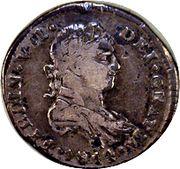 ½ Real - Fernando VII (Guadalajara - Royalist Coinage) – avers
