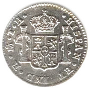 ½ real - Carlos IV (monnaie coloniale) – revers