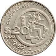 20 pesos Culture maya -  revers