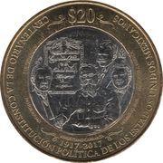 20 Pesos (Centenaire de la Constitution) -  revers