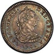 1 Real - Carlos III (monnaie coloniale) -  avers