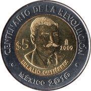 5 pesos Eulalio Gutierrez -  revers