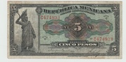 Mexico - Republica Mexicana Five pesos – avers