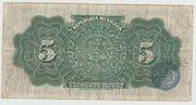 Mexico - Republica Mexicana Five pesos – revers