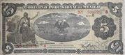 5 Pesos (Gobierno Provisional de Mexico) – avers