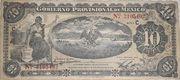 10 Pesos (Gobierno Provisional de Mexico) – avers