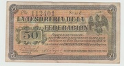 50 centavos - Guaymas Sonora 1914 – avers