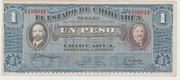 Mexico Revolutionary 1 Peso 1915 - Chihuahua – avers