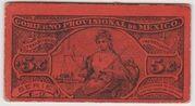 5 Centavos 1914 Mexico Revolutionary Gobierno Provisional – avers