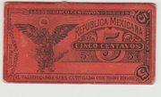 5 Centavos 1914 Mexico Revolutionary Gobierno Provisional – revers