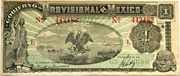 1 peso (gobierno provisional de Mexico) – avers