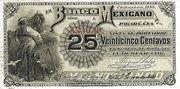 25 Centavos 1888, Banco Mexicano – avers