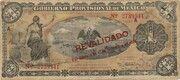 1 Peso (Gobierno Provisional de México) – avers