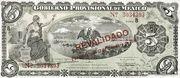 5 Pesos (Gobierno Provisional de México) – avers
