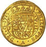 8 escudos - Philip V (monnaie coloniale) – avers
