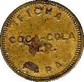 Coca-Cola token – avers