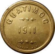 Guatimoc 1911 coffee token – avers
