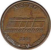Metro and Bus Token -  Monterrey – avers