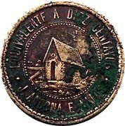 diez centavos 1874 – avers