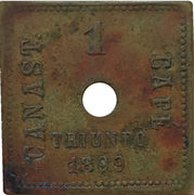 Mexican coffee harvester token – avers