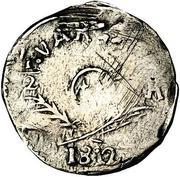 ½ real - Ferdinand VII (Sombrerete - monnaie royaliste) – avers