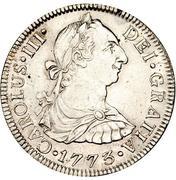 2 reales - Carlos III (monnaie coloniale) – avers
