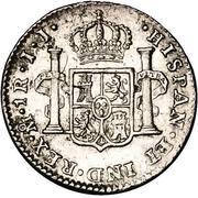 1 real - Ferdinand VII (monnaie coloniale) – revers