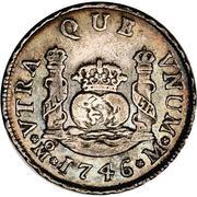 2 reales - Philip V (monnaie coloniale) – revers
