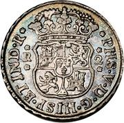 2 reales - Philip V (monnaie coloniale) – avers