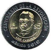 5 pesos Luis Cabrera -  revers