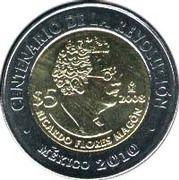 5 pesos Ricardo Flores Magon -  revers
