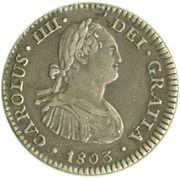 1 real - Carlos IV (monnaie coloniale) – avers