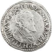 1 ducatone - Felipe II -  avers