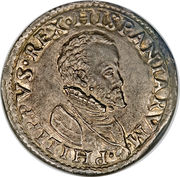 1 Testone - Felipe II – avers