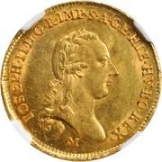 ½ sovrano - Joseph II – avers