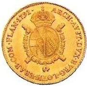 ½ sovrano - Leopold II (Trade Coinage) – revers