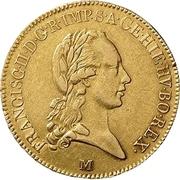 ½ souverain d'or Franz II -  avers