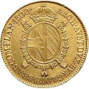 ½ souverain d'or Franz II -  revers