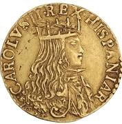 1 doppia - Carlo II – avers