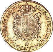 1 sovrano Joseph II – revers