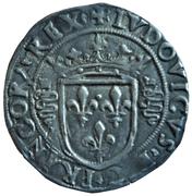 """Louis XII - Duché de Milan - Gros royal de 3 sous dit """"Bissone"""" – avers"""
