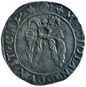 """Louis XII - Duché de Milan - Gros royal de 3 sous dit """"Bissone"""" – revers"""