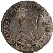 1 testone - Louis XII -  avers