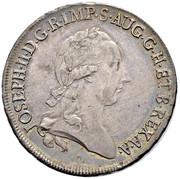 ½ scudo Joseph II – avers