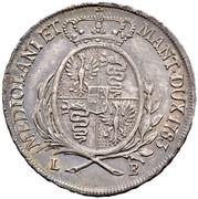 ½ scudo Joseph II – revers
